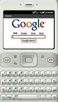 Смартфон Гугла для мобильного экварина